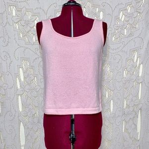 St John textured tank top size small in euc